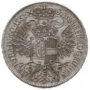 talar (tzw. Ausbeutetaler) 1758, Wiedeń, wybite ze sreb...