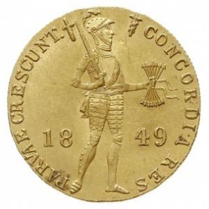 dukat 1849, Utrecht, Delm. 1214, Sch. 563, Fr. 344, zło...