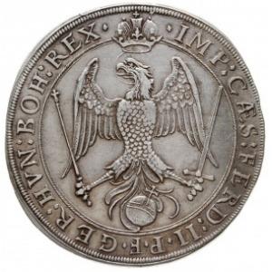 talar 1626, z tytulaturą Ferdynanda II, Aw: Panorama mi...