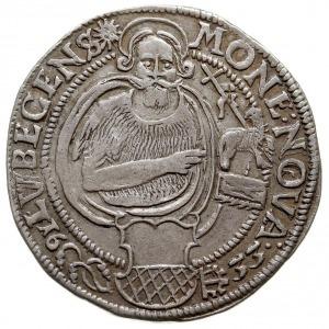 talar 1633, z tytulaturą Ferdynanda II i znakiem mennic...