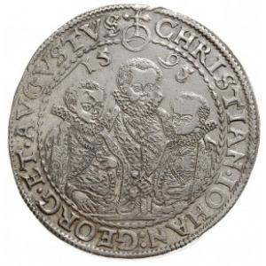 talar 1595 HB, Drezno, Dav. 9820, Keilitz 186, Schnee 7...