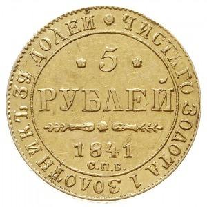 5 rubli 1841 СПБ АЧ, Petersburg, Bitkin 18, Fr. 155, zł...