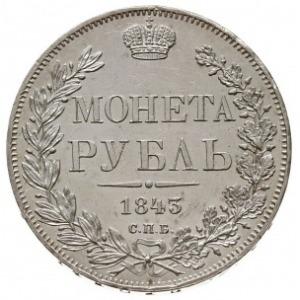 rubel 1843 СПБ АЧ, Petersburg, św. Jerzy z płaszczem, B...