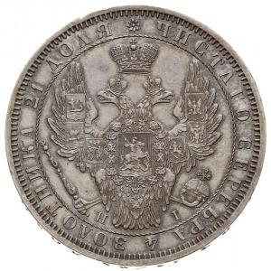rubel 1853 СПБ HI, Petersburg, św. Jerzy bez płaszcza, ...