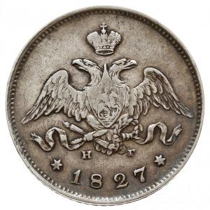 25 kopiejek 1827 СПБ НГ, Petersburg, Bitkin 124, Adrian...