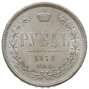 rubel 1878 СПБ НФ, Petersburg, Bitkin 92, Adrianov 1878...
