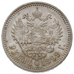 rubel 1899 (Ф•З), Petersburg, głowa cara starszego typu...