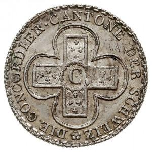 5 concordat batzen 1826, odmiana z napisem 5 BATZ, HMZ ...