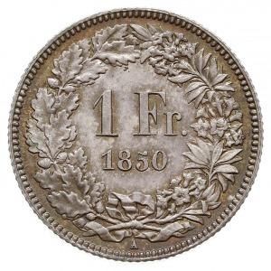 1 frank 1850 A, Paryż, HMZ 2-1203.a, piękny egzemplarz ...
