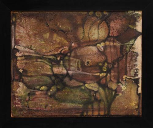 Rosenstein Erna (1913-2004) Abstrakcja z zielenią
