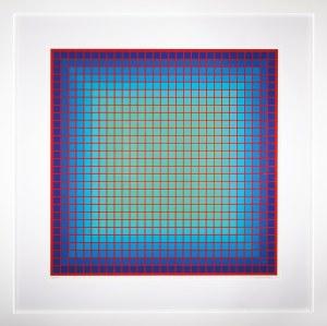 Julian Stańczak (1928-2017), CONFERRING BLUE