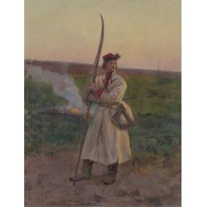 Chełmoński Józef, KOSYNIER, 1906