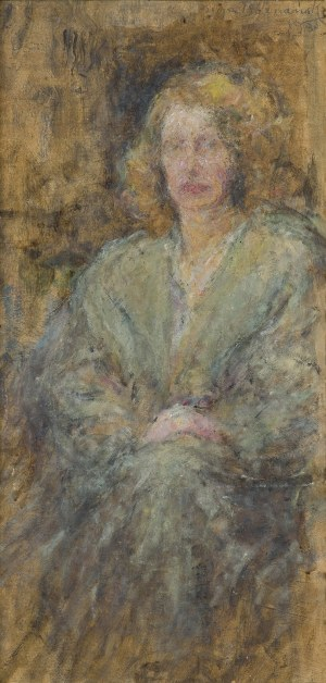 Boznańska Olga, PORTRET LEKARKI DR JANINY ROMANOWEJ, 1933