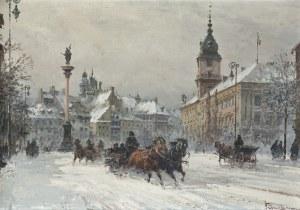 Chmieliński (Stachowicz) Władysław, PLAC ZAMKOWY ZIMĄ