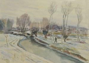 Henryk EPSTEIN (1892-1944), Zimowy pejzaż ze sztafażem