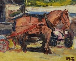 Kazimierz ZIELENIEWSKI (1888-1931), Wóz z koniem