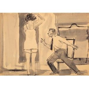 Andrzej WRÓBLEWSKI (1927 - 1957), [Kompozycja figuralna nr 600], 1954