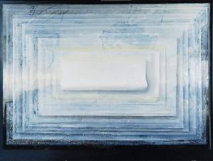 Dariusz MLĄCKI (ur. 1963), Obraz z białą kartką, 2016