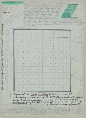 """Jerzy GRABOWSKI (1933-2004), Studium cyfry """"9"""", 1987"""