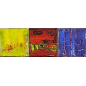 Robert ESCALAR (ur. 1969), Kompozycja czerwona, 2017; Kompozycja niebieska, 2017; Kompozycja żółta, 2017