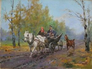 Ignacy Zygmuntowicz (1875-1947), W drodze na targ