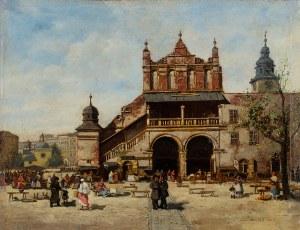Seweryn Bieszczad (1852-1923), Sukiennice Krakowskie przed restaracyą, 1885 r.
