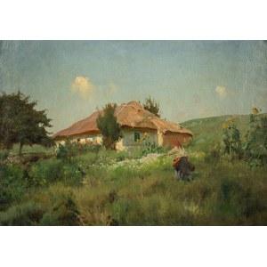 Eugeniusz Wrzeszcz (1851 - 1916), Dziewczyna przed chatą
