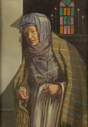 Konstanty Szewczenko (1910 Warszawa-1991 tamże), Modląca się kobieta