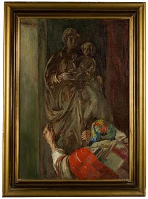Wincenty Wodzinowski (1866 Igołomnia k. Miechowa - 1940 Kraków), Przed figurką Matki Boskiej