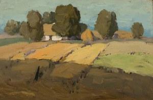 Zenobiusz Poduszko (1887 Oczeretino k. Izjumu/Ukraina - 1963 Łódź), Pejzaż wiejski, 1923 r.