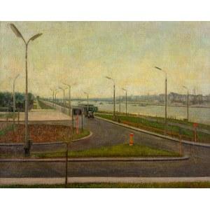 Edward Kokoszko (1900 Izdebno k.Grodziska Maz. - 1962 Warszawa), Krajobraz warszawski - Wybrzeże helskie, ok. 1950 r.