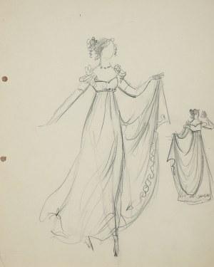 Jan Marcin Szancer (1902 Kraków-1973 Warszawa), Projekt kostiumu żeńskiego-suknia balowa