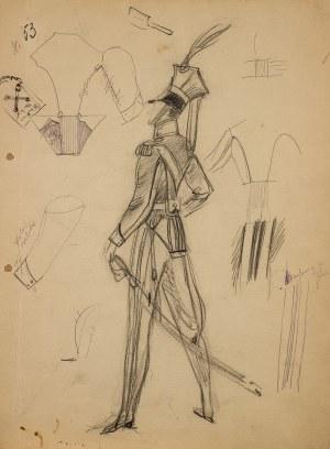 Jan Marcin Szancer (1902 Kraków-1973 Warszawa), Projekt kostiumu ułana