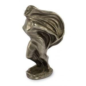 Bolesław Biegas (1877 Koziczyn - 1954 Paryż), Kobieta z woalem (projekt figurki na zwieńczenie chłodnicy samochodu Secqueville-Hoyau) , 1920 r.
