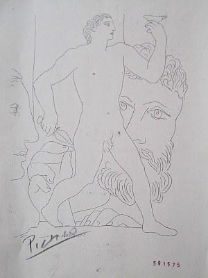 Pablo Picasso, Escultor, Modelo Y Esultura De Un Joven Andando, 1933