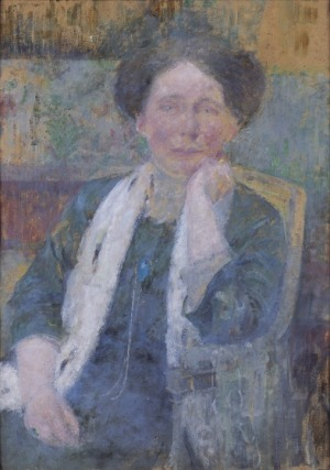 Olga Boznańska, PORTRET KOBIETY WSZALU, ok. 1912 - 1913