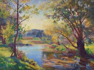 Ignacy PIEŃKOWSKI (1877-1948), Pejzaż z rzeką