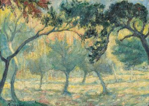 Roman KRAMSZTYK (1885-1942), Pejzaż - Sad owocowy, przed 1913