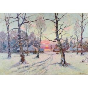 Julij Juliewicz KLEVER syn (1882-1942), Zimowy zachód słońca