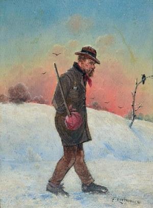 Franciszek KOSTRZEWSKI (1826-1911), Wiejski włóczęga