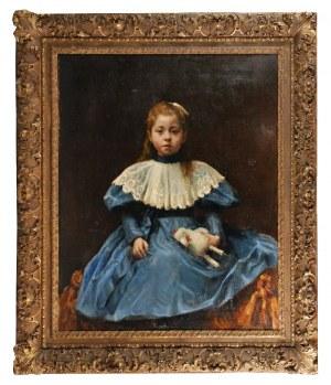 Alfred ŚWIEYKOWSKI (1969-1953) - ?, Portret dziewczynki z zabawką