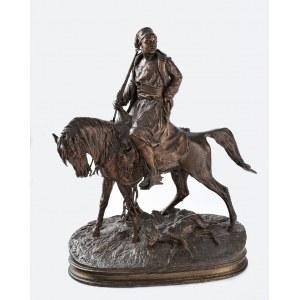Pierre Jules MENE (1810-1879), Afrykański myśliwy na koniu