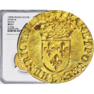 RR-, Henryk Walezy, Król Polski, Dukat (ecu d'or) 1589, R4