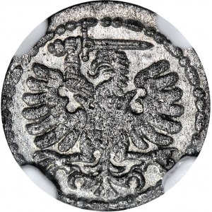 R-, Stefan Batory, Denar Gdańsk 1585, piękny