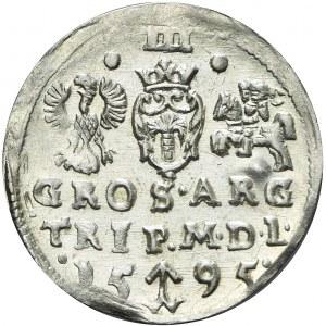 Zygmunt III Waza, Trojak 1595, Wilno, menniczy