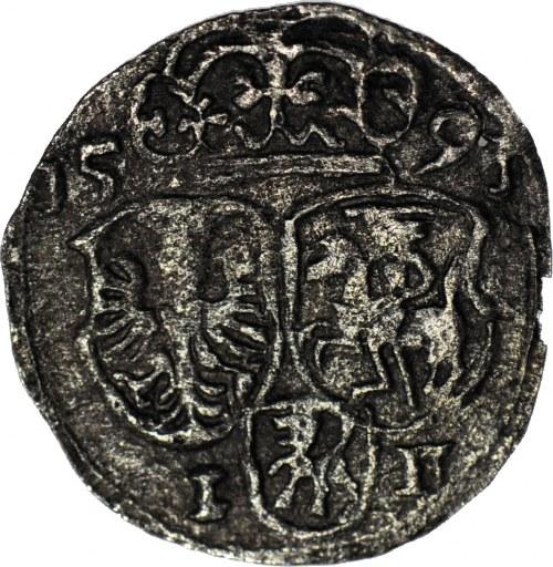 RRR-, Zygmunt III Waza, Ternar 1591 Snopek Wazów, Olkusz, T. 150 mk, R8