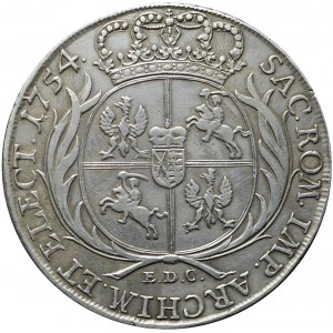 R-, August III Sas, Talar 1754, Lipsk, R3