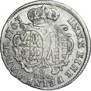 R-, August III Sas, 1/6 talara 1763 EDC, Lipsk, rzadkie, R3
