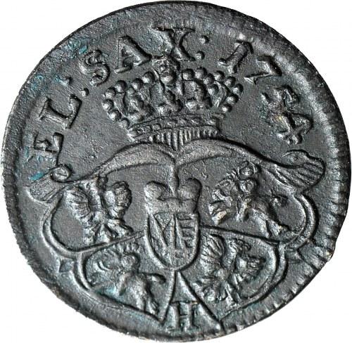 R-, August III Sas, Grosz 1754 H, anomalny