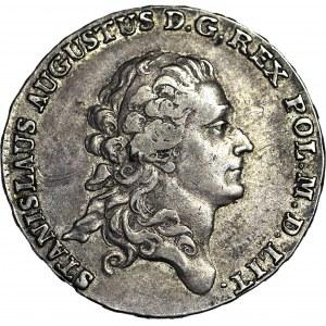 R-, Stanisław A. Poniatowski, Półtalar 1777, Berezowski 15 zł, b. ładny